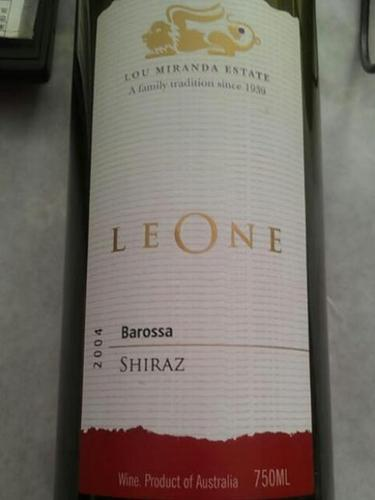Leone Barossa Valley Shiraz