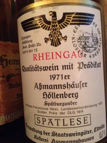 Rheingau Aßmannshäuser Höllenberg Spätburgunder Spätlese