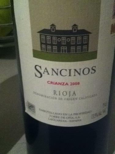 Rioja Sancinos Crianza