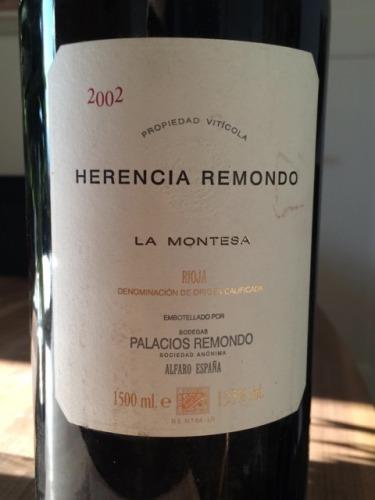 帕拉西奥斯埃伦西亚雷蒙多干红Herencia Remondo La Montesa Rioja