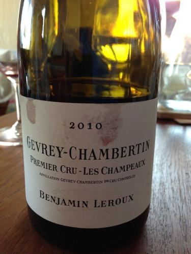 Benjamin Leroux Les Champeaux Gevrey-Chambertin Premier Cru