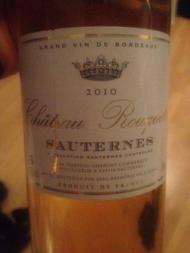洛克城堡贵腐甜白Chateau Rouquette Sauternes