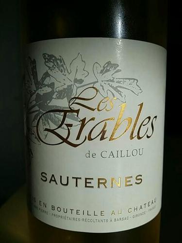 宝石庄园副牌干白Les Erables de Caillou Blanc