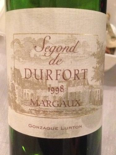 度韦酒庄三军干红Chateau Durfort Vivens Segond de Durfort Margaux