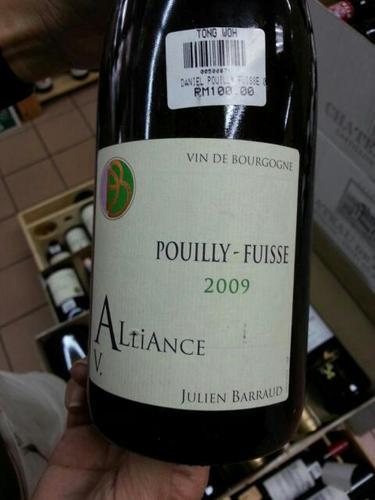 丹玛巴若酒庄普伊富赛联姻园干白Daniel & Julien Barraud Pouilly-Fuisse Alliance Vieilles Vignes