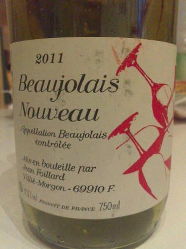 Domaine Jean Foillard Beaujolais Nouveau