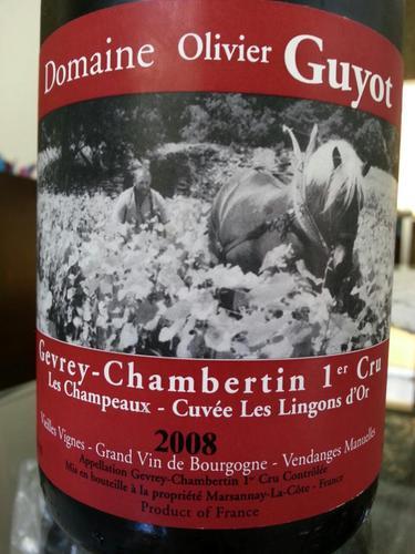 Gevrey-Chambertin 1er Cru Champeaux-Cuvée Les Lingons D'Or