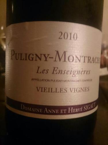 Puligny Montrachet Vieilles Vignes Les Enseignères