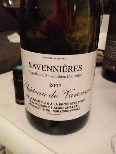 瓦伦内酒庄干白Chateau de Varennes Savennieres