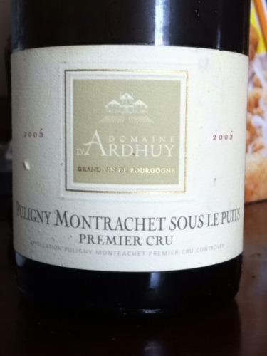 Sous Le Puits Puligny-Montrachet Premier Cru