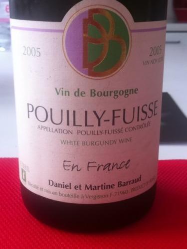 普伊富溪法国园干白Domaine Barraud Pouilly Fuisse En France