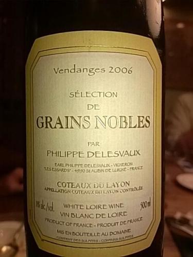 Sélection De Grains Nobles Coteaux Du Layon