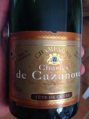 Champagne Tete de Cuvée Reserve À Reims Brut