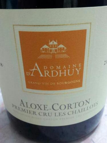 Aloxe Corton Premier Cru Les Chaillots