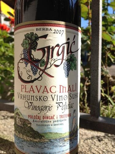 Grgic Vinogorje Peljesac Kvalitetno Vino Suho Plavac Mali