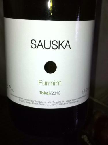 苏凯富尔民特干白Sauska Furmint