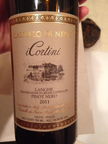 内华城堡朗格黑皮诺干红Castello di Neive langhe Pinot Nero