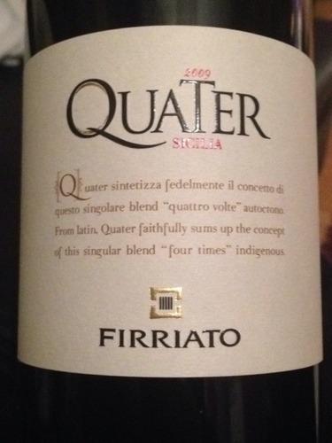 菲维亚托第四干红Firriato Quater 4