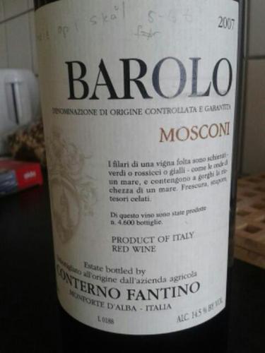 凡第诺莫斯科尼干红Conterno Fantino Mosconi