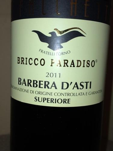 Bricco Paradiso Superiore Barbera D Asti