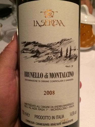 赛瑞娜布鲁奈罗蒙塔尔奇诺葡萄酒La Serena Brunello di Montalcino
