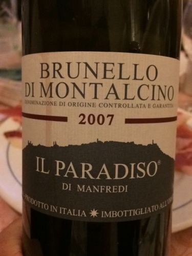 曼法拉第天堂蒙塔尔奇诺布鲁耐罗干红Il Paradiso di Manfredi Brunello di Montalcino