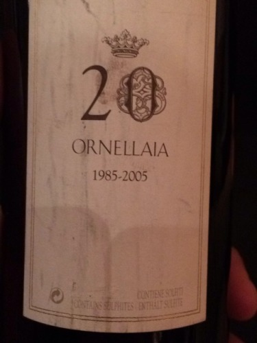 奥纳亚20周年特别纪念干红Ornellaia 20th Anniversary