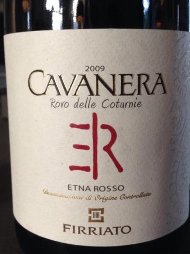 菲维亚托卡瓦内拉罗沃德勒克图尼干红Firriato Etna Rosso Cavanera