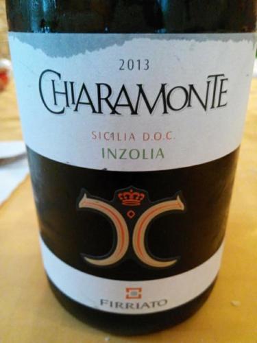 菲维亚托齐拉蒙特伊卓莉亚干白Firriato Chiaramonte Sicilia Inzolia