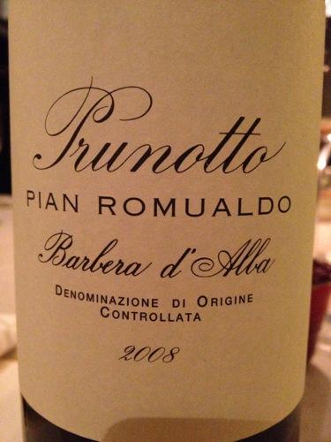 普鲁诺托皮鞍罗莫尔多巴贝拉干红Prunotto Pian Romualdo Barbera d'Alba