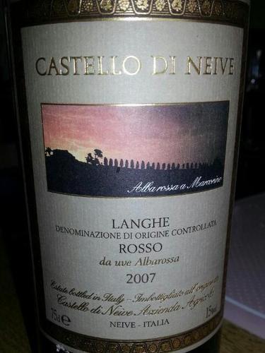 内华城堡朗格阿巴罗莎干红Castello di Neive  Langhe Rosso Albarossa