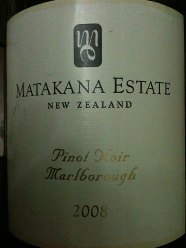 马塔卡纳黑皮诺干红Matakana Estate Pinot Noir