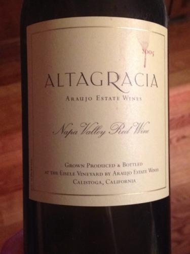 Altagracia Napa Valley Red