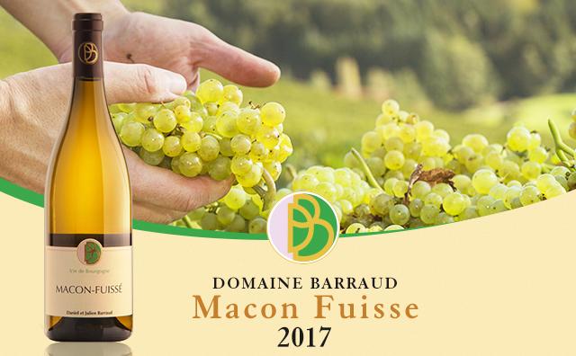 【超值爆款】Domaine Barraud Macon Fuisse 2017
