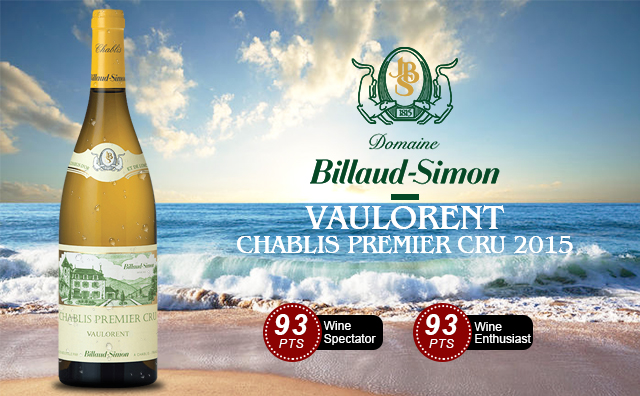 【挑?#25945;?#32423;园】Domaine Billaud-Simon Vaulorent Chablis Premier Cru 2015 雾?#23545;? data-autosize>