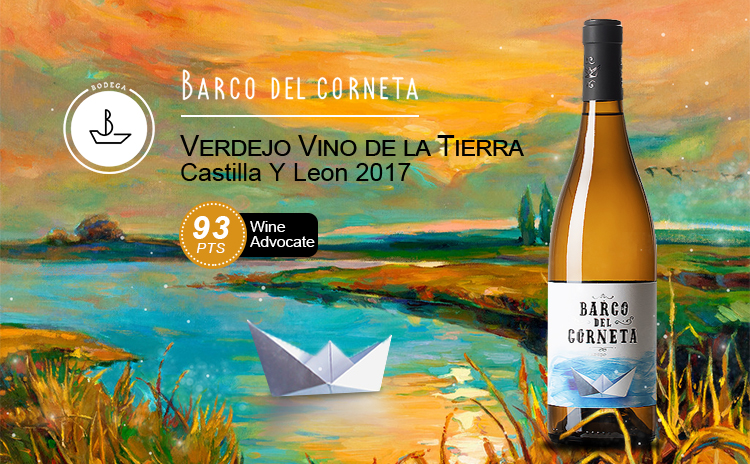 【超值口粮】Barco del Corneta Verdejo Vino de la Tierra de Castilla y Leon 2017
