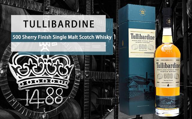 【精选单麦】Tullibardine 500 Sherry Finish Single Malt Scotch Whisky 礼盒装 福利特价