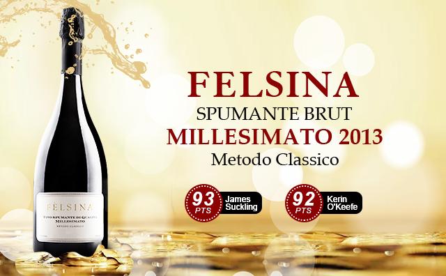 【高端年份起泡】Felsina Spumante Brut Millesimato 2013