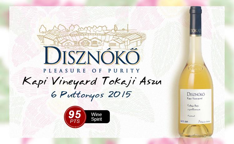 【配额首发|野猪岩单一园】Disznoko Tokaji Kapi Vineyard Aszu 6 Puttonyos Tokaji 2015