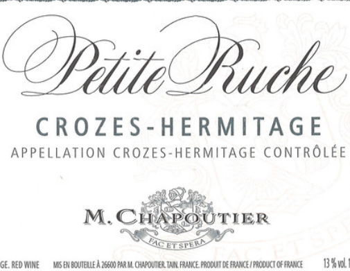 莎普蒂尔小卢什干红M. Chapoutier Crozes-Hermitage La petite Ruche