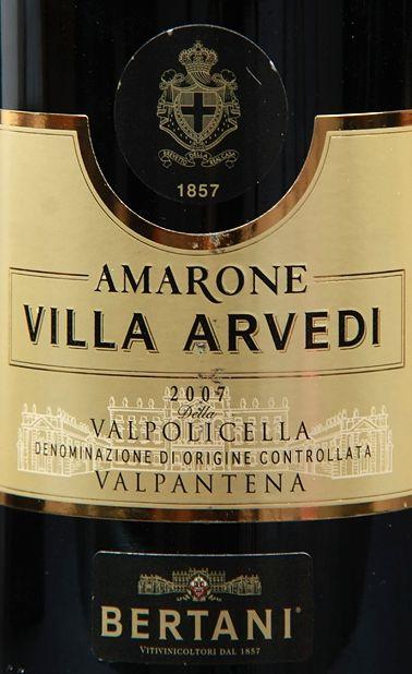 贝尔塔尼维拉阿迪阿玛罗尼干红Bertani AMARONE VILLA ARVEDI della Valpolicella