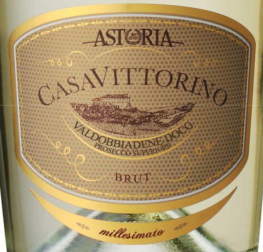 阿斯特维托里诺世家起泡Prosecco  Casa Vittorino Millesimato