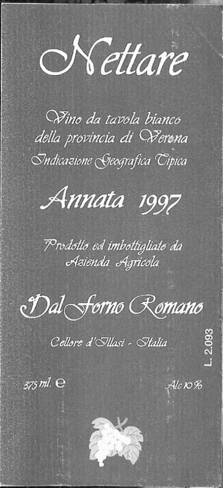 戴福诺霓塔尔干白Dal Forno Romano Nettare