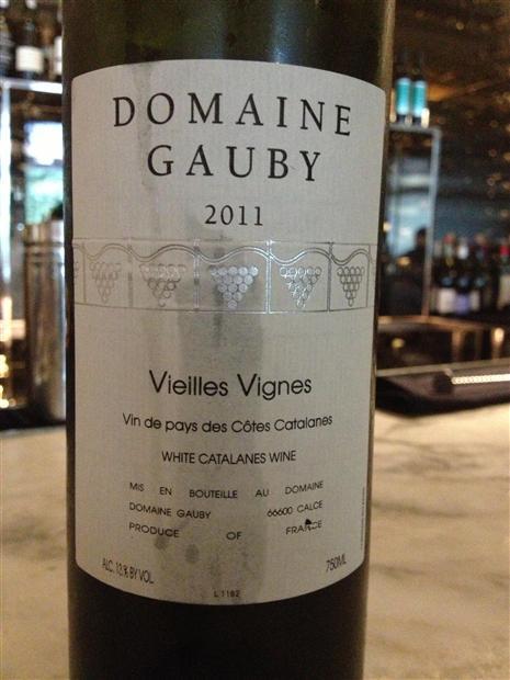 古碧老藤干白Domaine Gauby Vieilles Vignes Blanc
