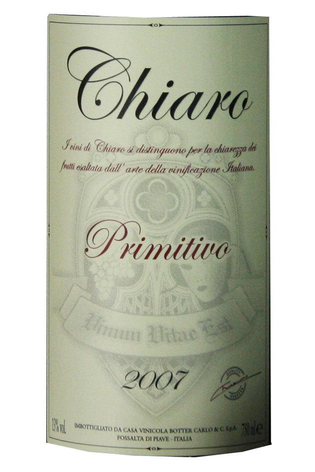 奇里奥皮特弗干红Chiaro Primitivo