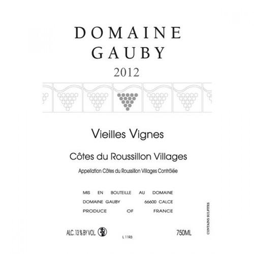 Domaine Gauby Cotes du Roussillon Villages Vieilles Vignes